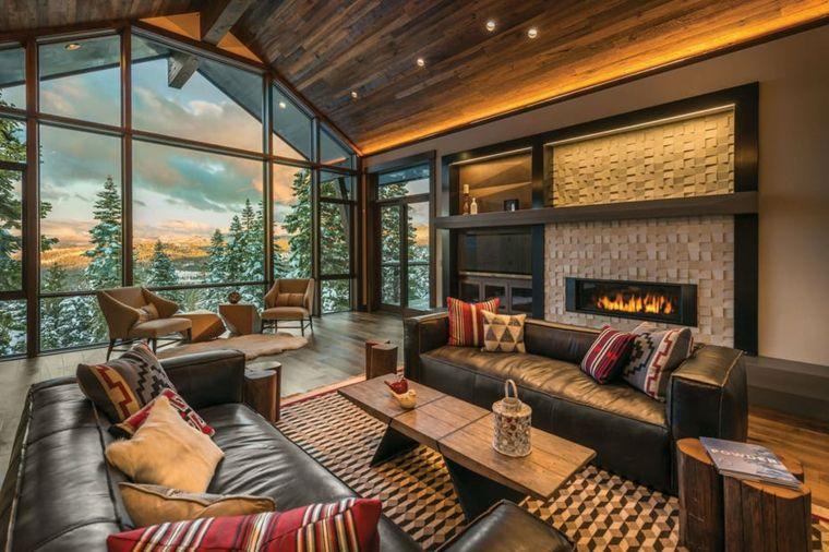decoraciones-rusticas-de-interiores-de-casas-sala-estar-chimenea-moderna