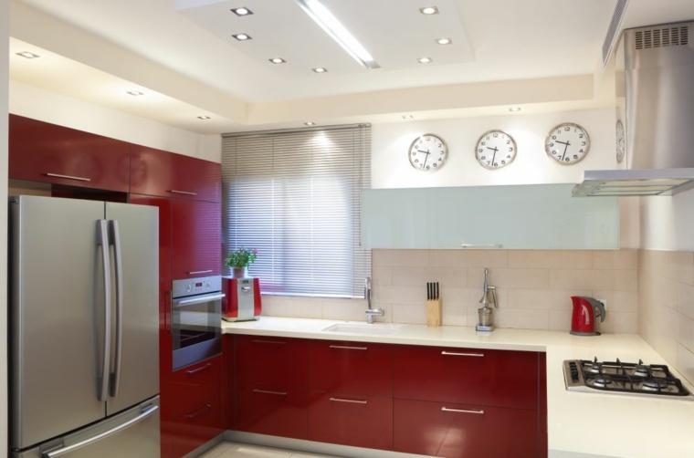 decoraicon para cocinas-rojas-minimalistas