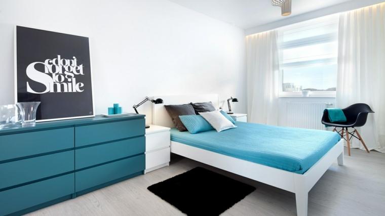 decoraicones para habitaciones-blanco-azul
