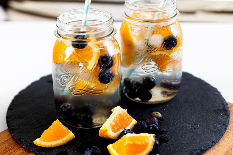 dieta para adelgazar-recetas-agua-arrandano-naranja-ideas