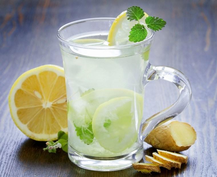 dieta para adelgazar-recetas-agua-limon-jengibre