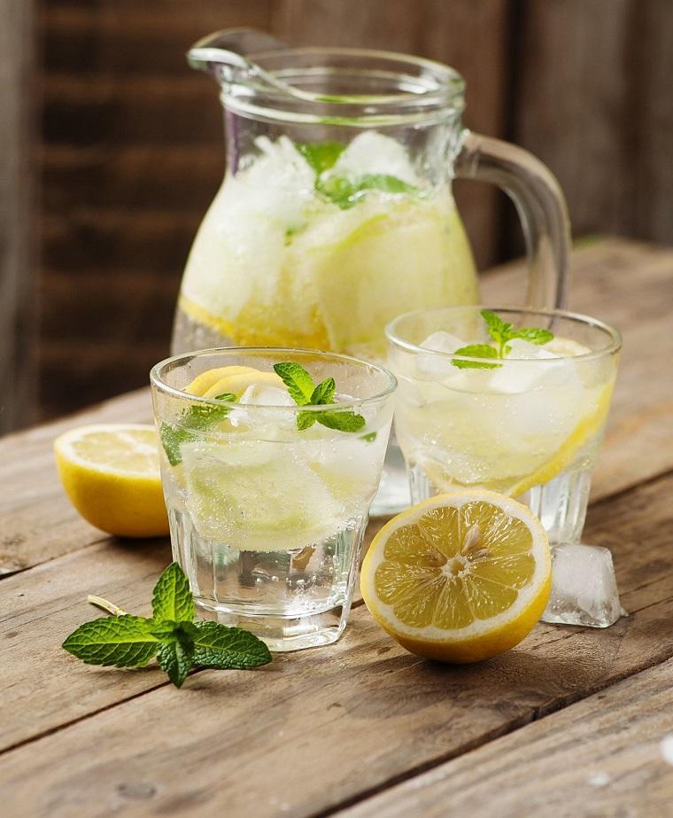 dieta para adelgazar-recetas-agua-menta-limon-ideas