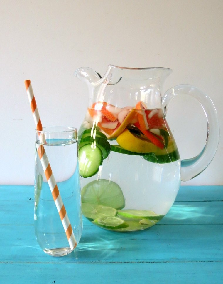 dieta-para-adelgazar-recetas-agua-menta-limon-pepino-ideas