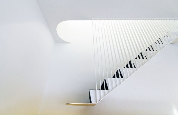 diseño de escaleras concepto gris