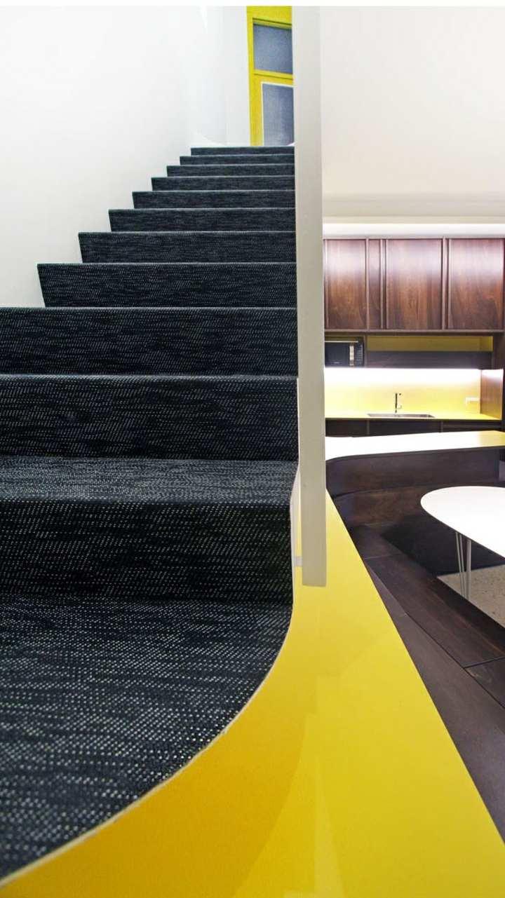 diseño de escaleras contraste suelo