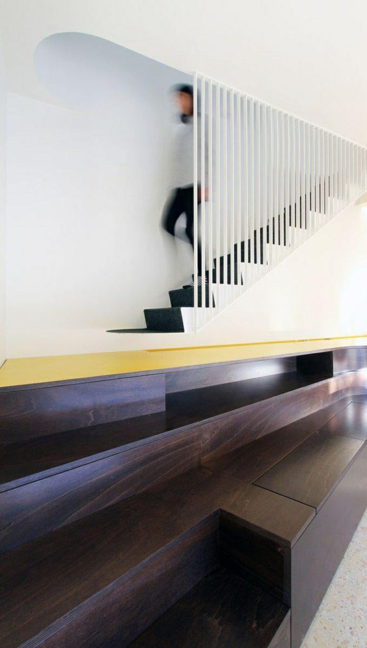 diseño de escaleras suelo madera