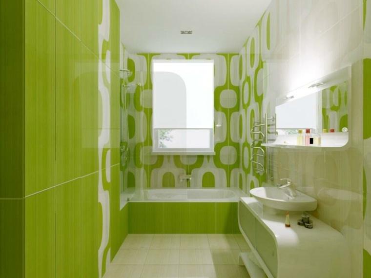 diseno de banos pequenos-color-verde