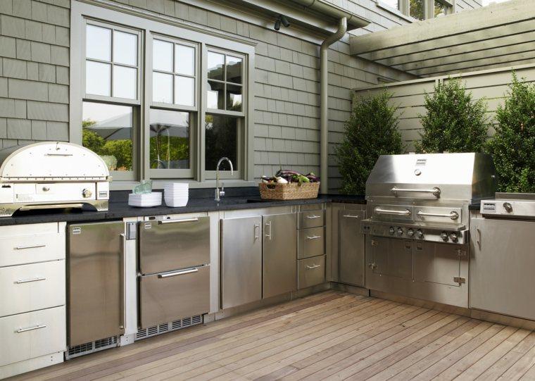 diseño de cocinas modernas-muebles-acero-estilo