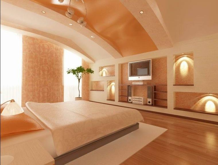 diseno de cuartos-blanco-naranja