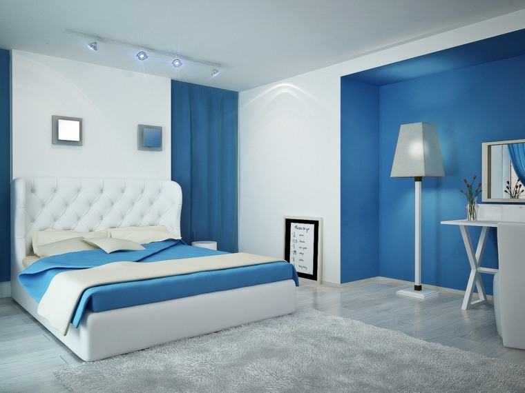 diseno de interiores dormitorios-blanco-azul
