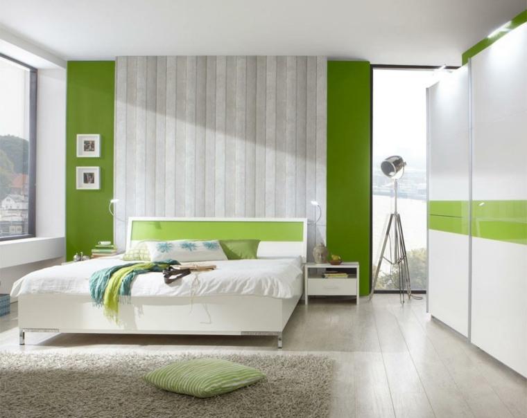 diseno de interiores dormitorios-verde-blanco
