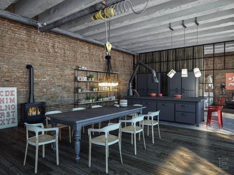Muros de diseño interior industrial