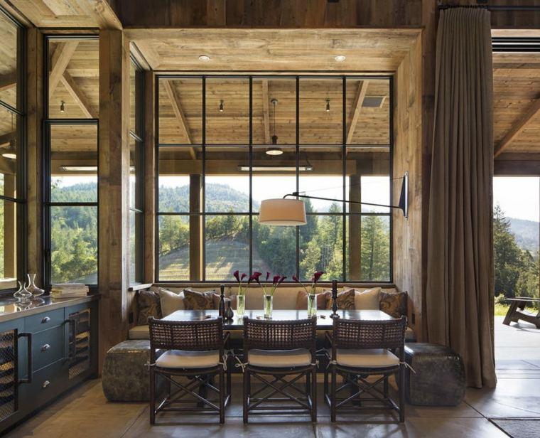 diseno-wade-design-architects-comedor-estilo-rustico