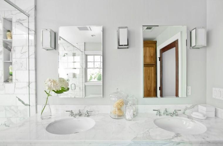 disenos de banos-blancos-marmol