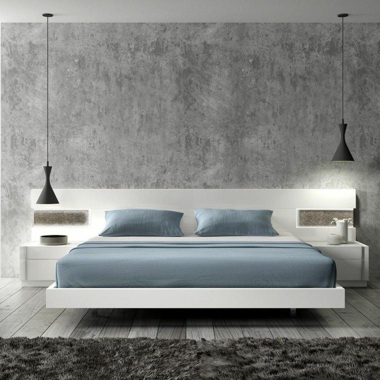 disenos de camas de madera-decorar-interior