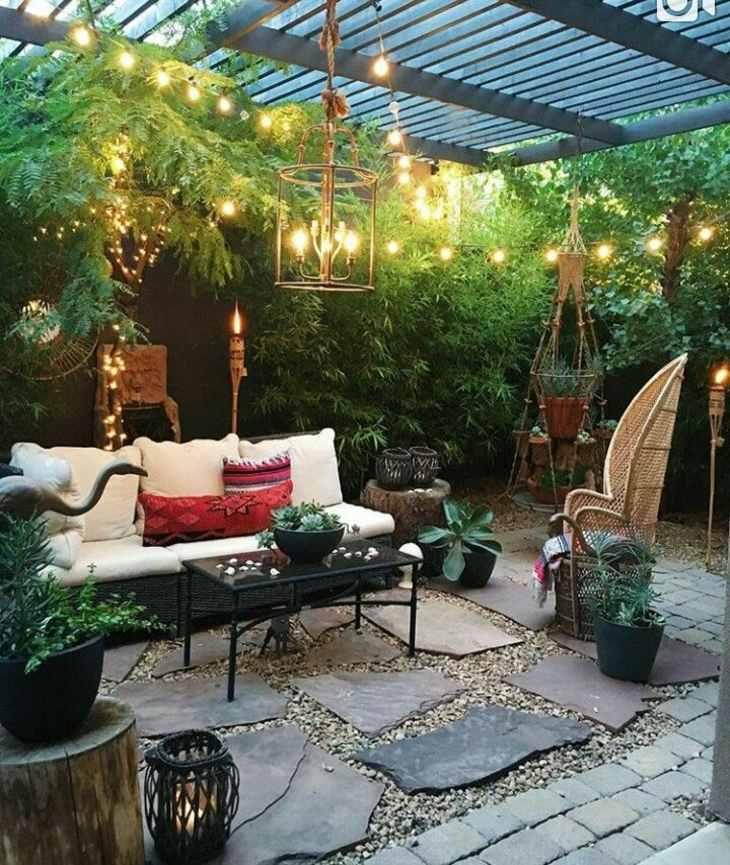 efecto-plantas-luces-exteriores