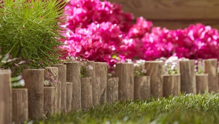 delimitar jardines con empalizadas