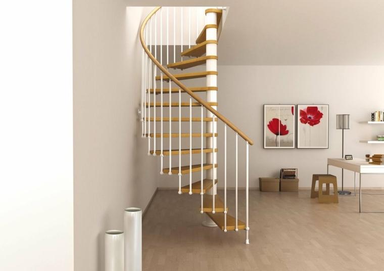 escaleras de aluminio-madera-interior