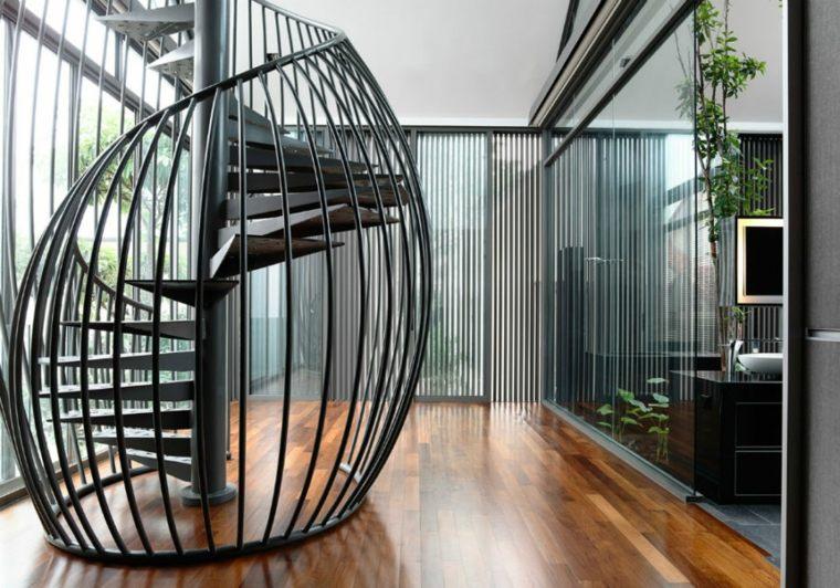 escaleras de caracol-aluminio-interior