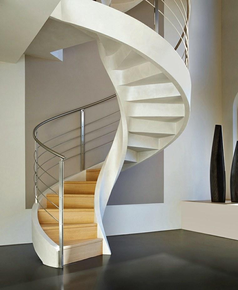 escaleras de caracol-madera-interior