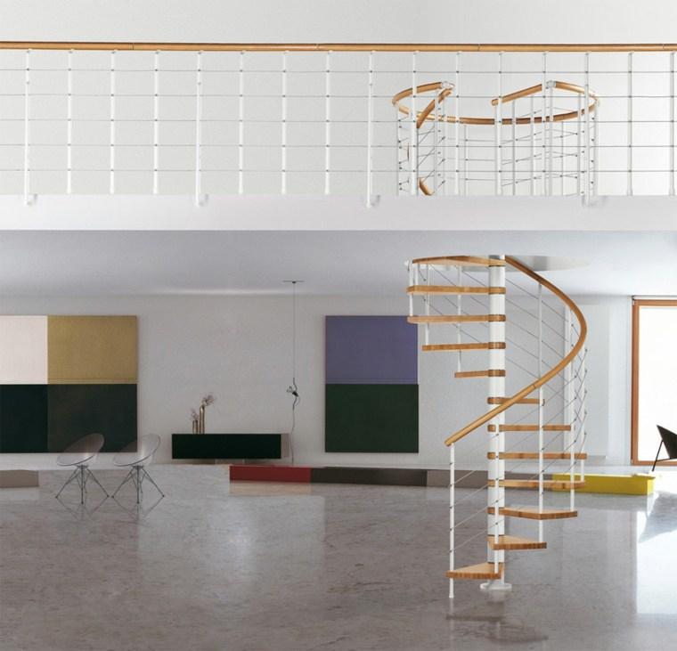escaleras de caracol-madera-modernas