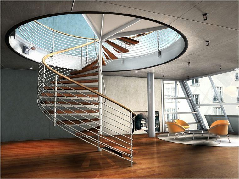 escaleras de caracol-modernas-interior