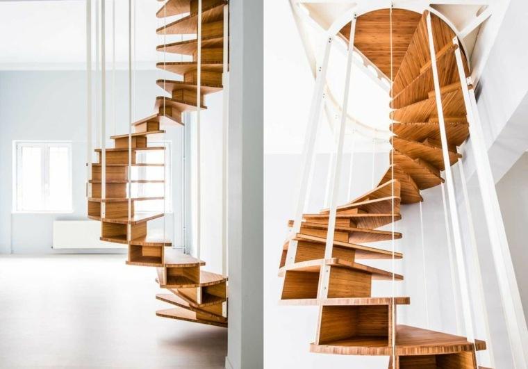 escaleras de caracol-modernas-madera