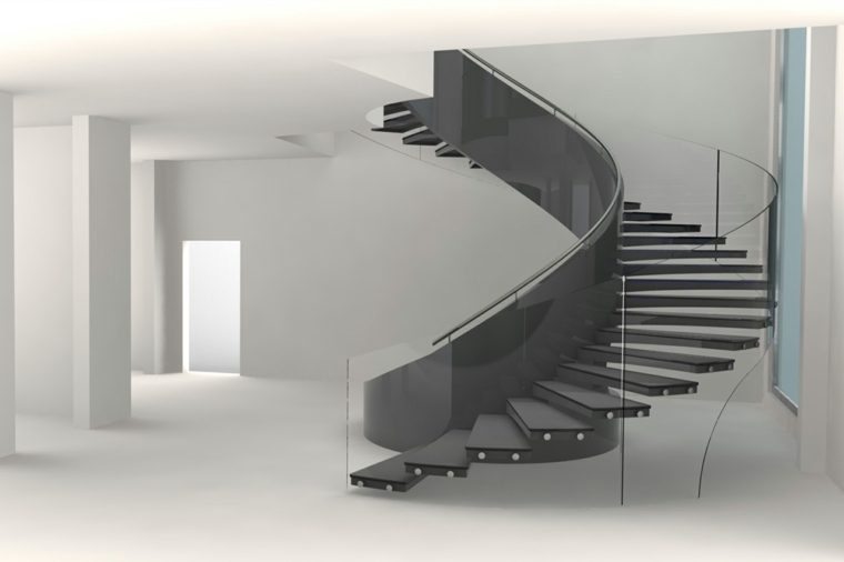 escaleras interiores-modernas-caracol