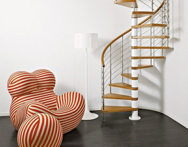 escaleras modernas-caracol-interiores