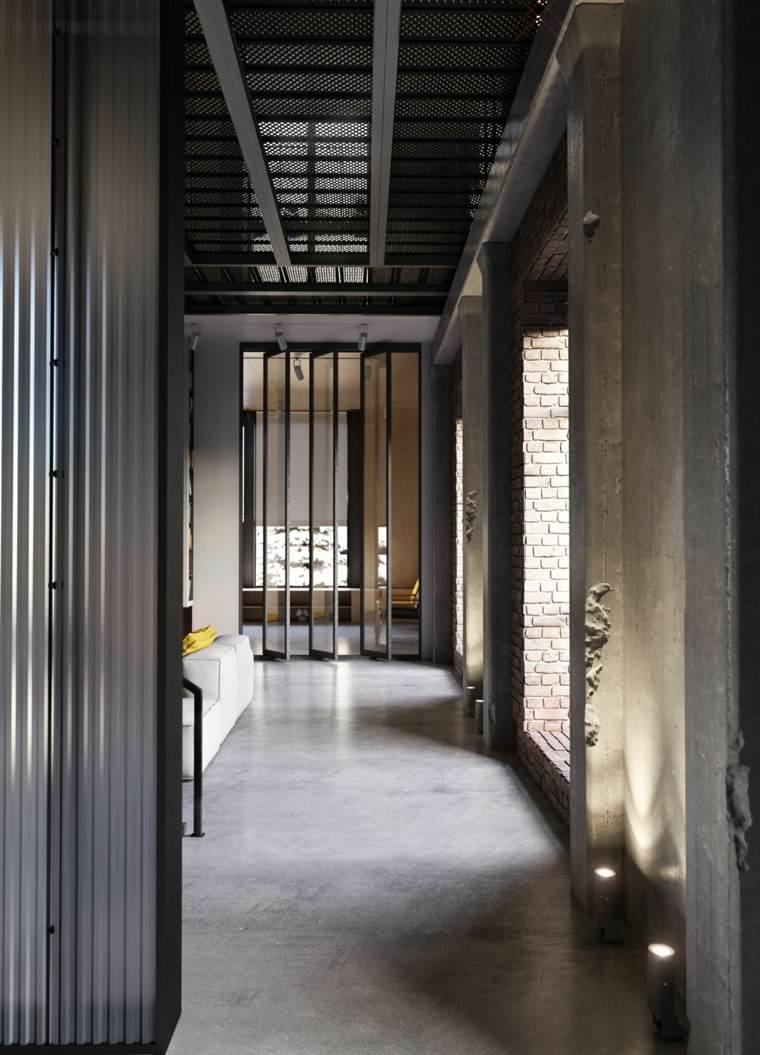 Elementos típicos de interiores de estilo industrial