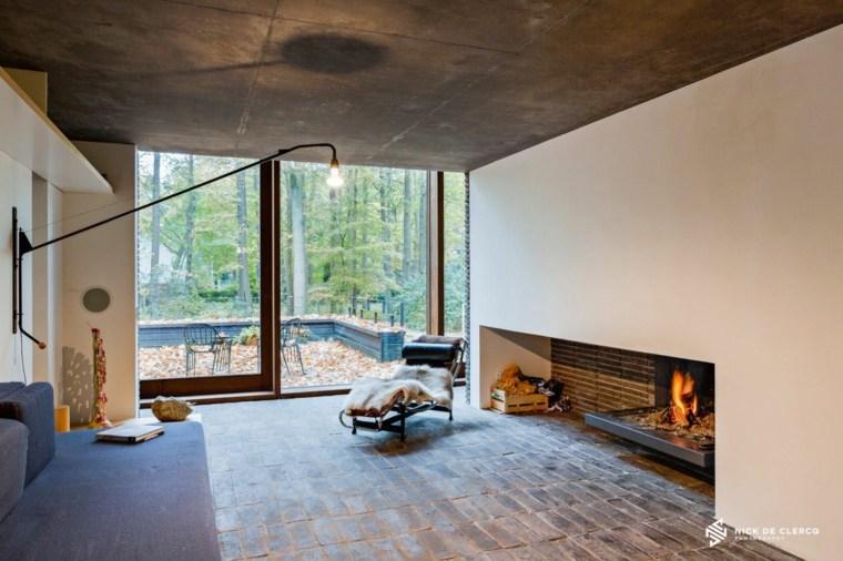 diseño de salón estilo wabi sabi
