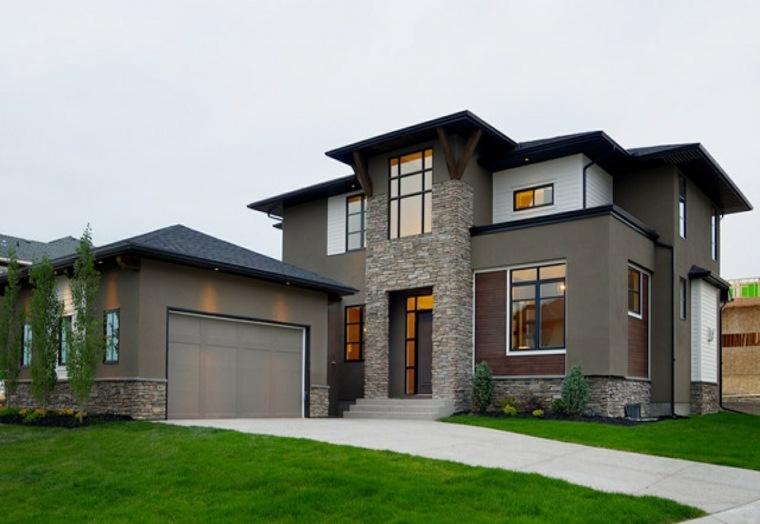 estilos de casas-modernas-piedras