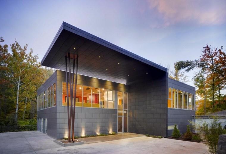 estilos de casas-modernas-techos-metal