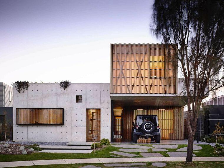 diseño de fachada estilo wabi sabi