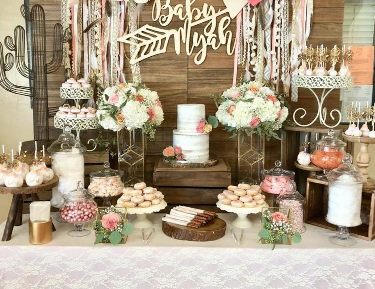 fiesta de baby shower-bohemia-decorar