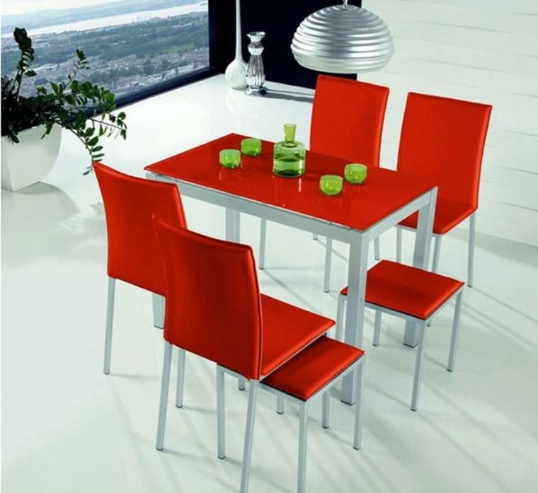 gabinetes para cocina-modernos-rojos