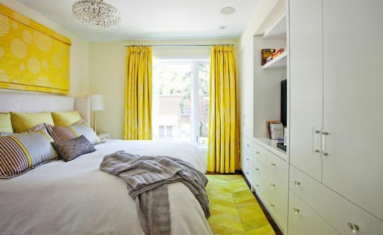 habitaciones modernas-blanco-amarillo