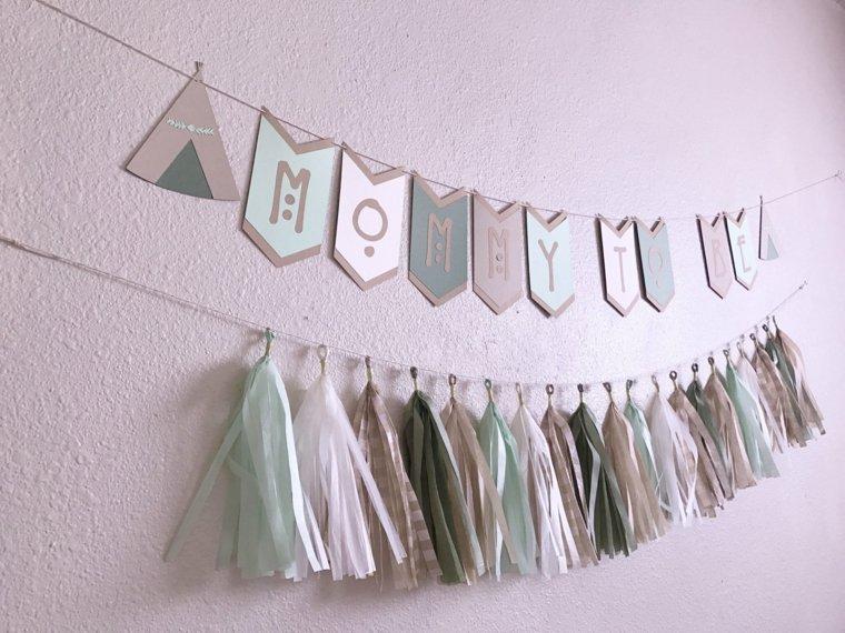 ideas de baby shower-estilo-bohemio