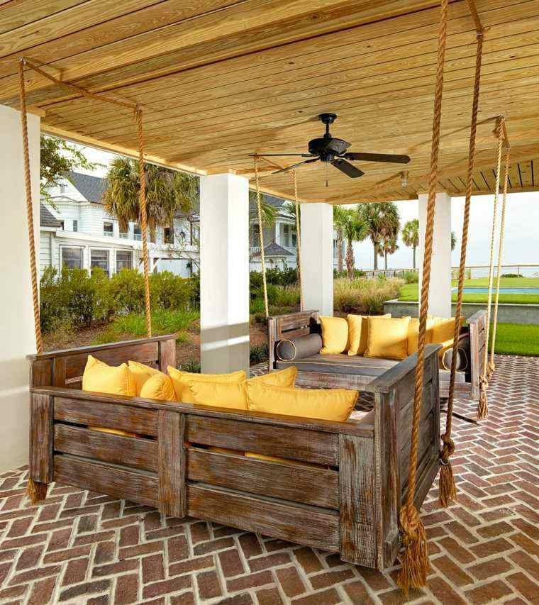 originales diseños de porches de madera