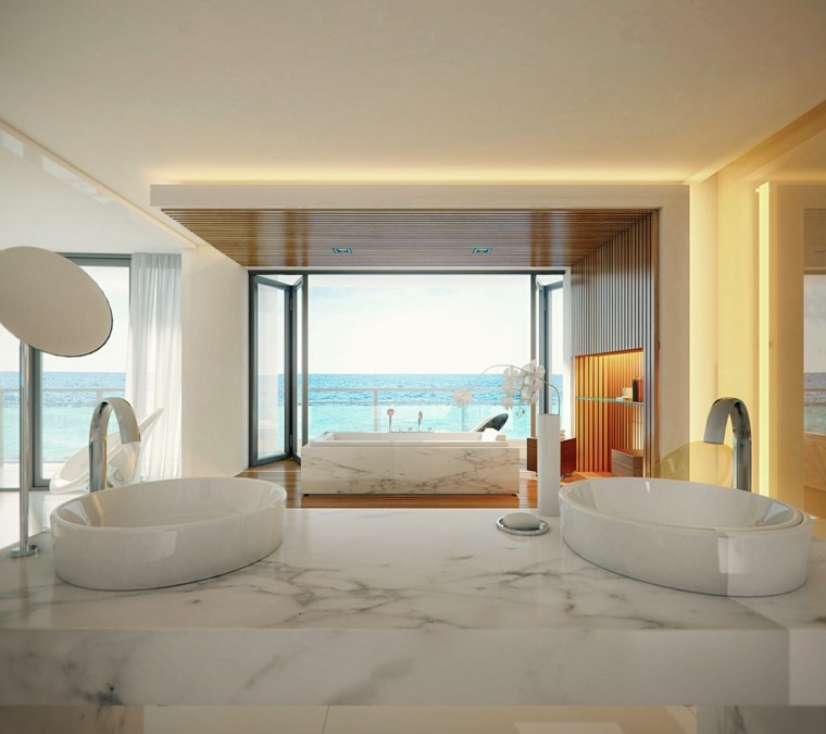 ideas para banos-decorados-marmol