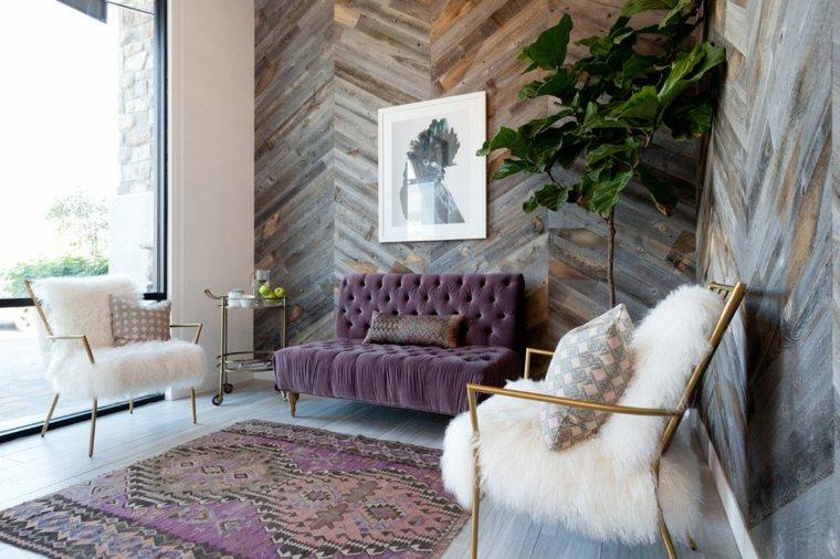 ideas para decorar paredes-enlosado-salon