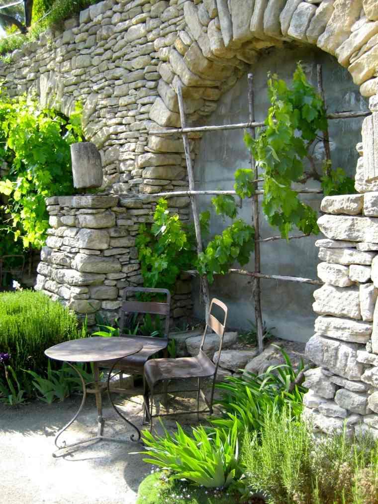 Ideas para decorar un jardín rústico-muebles-estilo