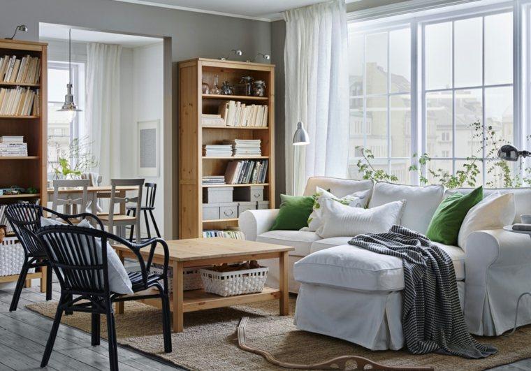 sala de estar moderna con muebles de Ikea