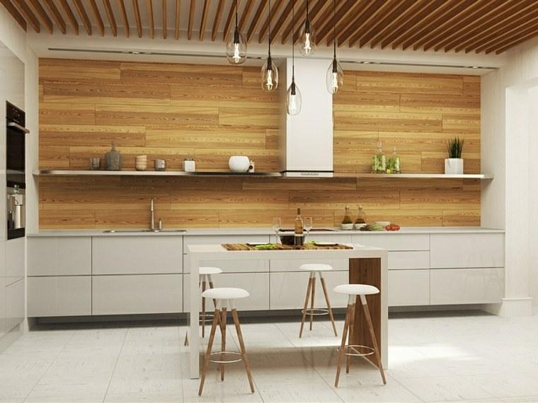 imagenes de cocinas-minimalistas-madera