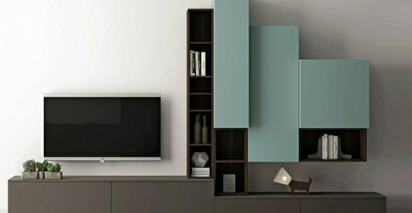 Muebles de sala modernos y repisas para libros para decorar