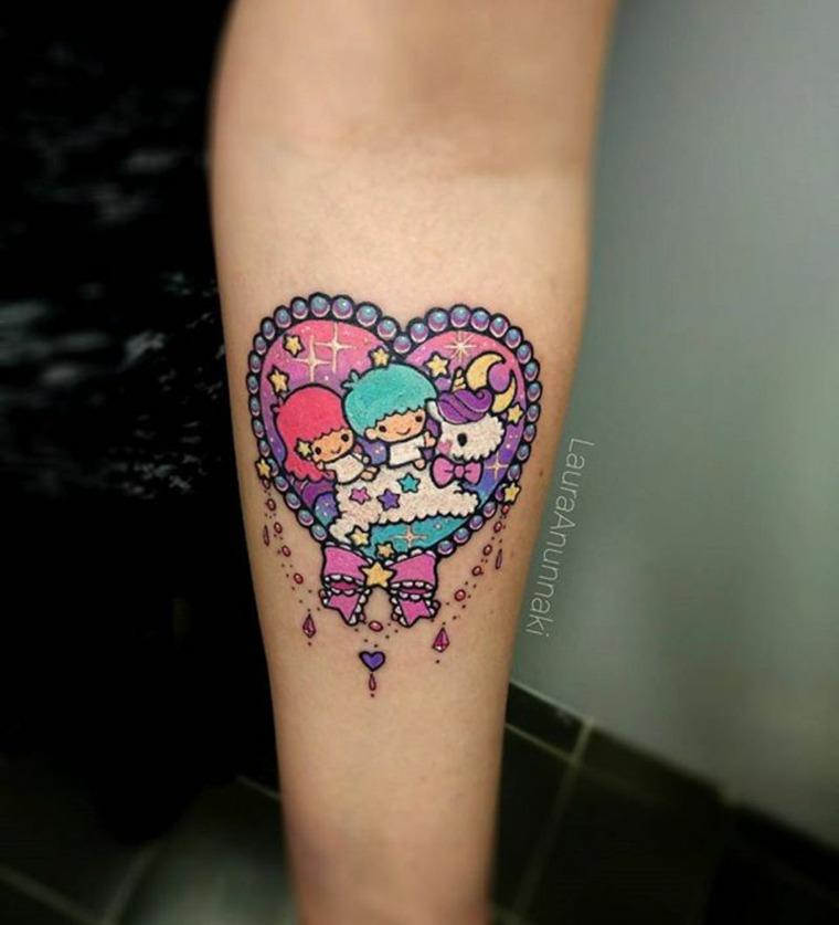 Tatuaje kawaii de Laura Annunaki