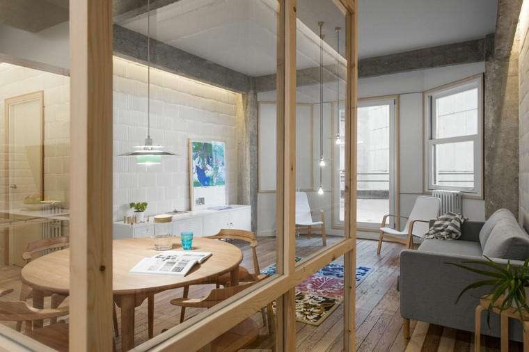 diseño de sala de estar wabi sabi