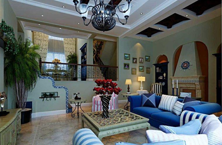 interiores de casas modernas-estilo-mediterraneo