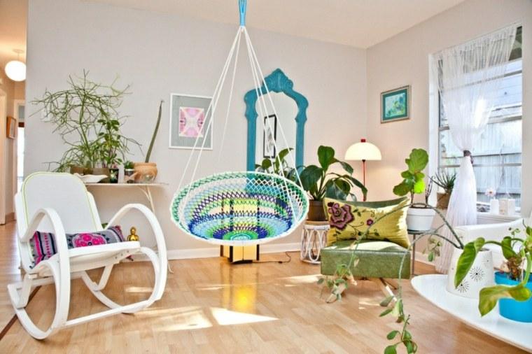 interiores de casas-modernas-hamacas