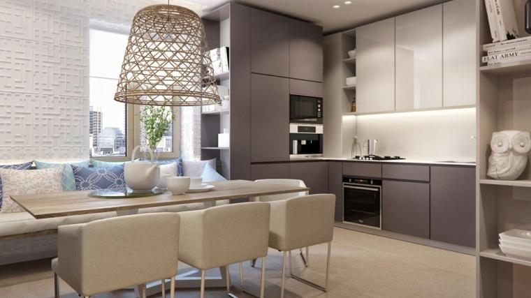 interiores de cocinas-minimalistas-modernas